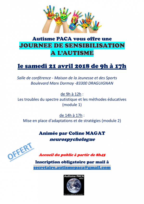 Affiche formation 21 avril 18 draguignan
