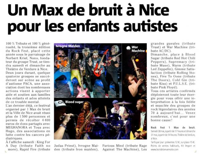 Article nice matin festival rock