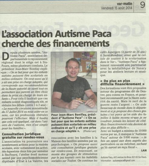 Article var matin 15 aout 2014