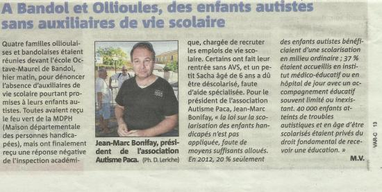 Article var matin rentree scolaire 2