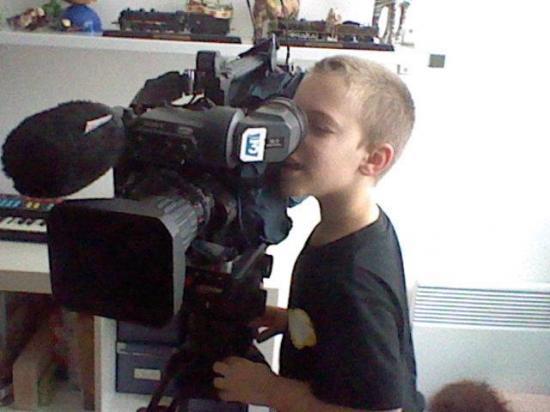 Photo alexandre avec camera de france 3