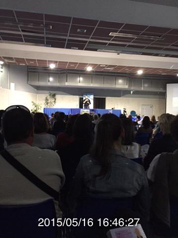 Photo congres apaca 2015 moi et la salle comble