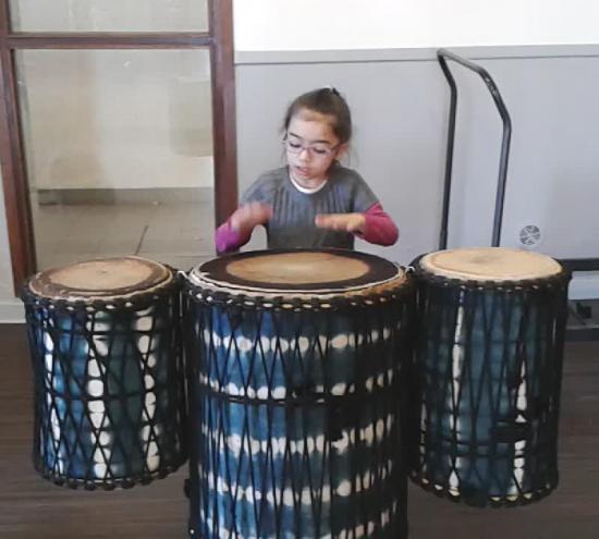 Photo lisa au tambour